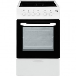 Ceramic cooker Beko, 50cm, white