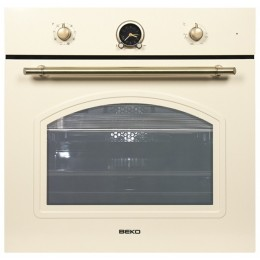 Built in oven Beko, retro, ivory