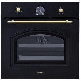 Built in oven Beko, retro, black