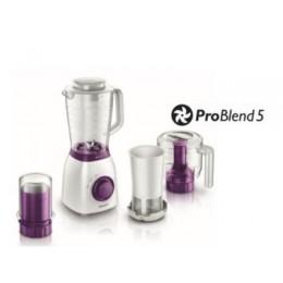 Philips Viva Collection HR2166 00 Tabletop blender Violet,White 2L 600W blender