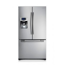 Samsung RFG23UERS freestanding 520L A+ Silver side-by-side refrigerator