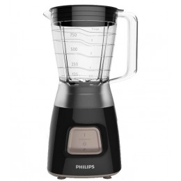 Philips Daily Collection HR2052 90 Tabletop blender 1.25L 350W Black blender