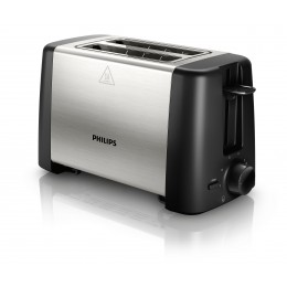 Philips Daily Collection HD4825/90 2slice(s) 800W Black,Stainless steel toaster
