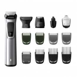 Philips MULTIGROOM Series 7000 MG7720 15 Rechargeable Black, Silver hair trimmers clipper