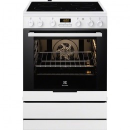 Electrolux EKC6430AOW Freestanding Ceramic A Black,White cooker
