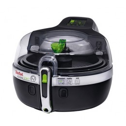 Tefal YV9601 Double Stand-alone Low fat fryer 1400W Black,Silver fryer